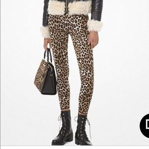 NWT MICHAEL KORS LEOPARD STRETCH LEGGINGS